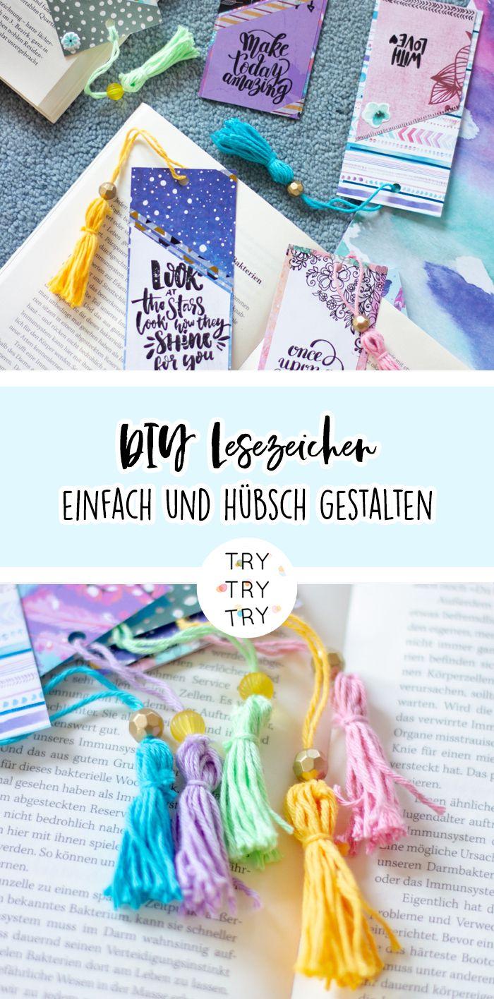 Quick DIY: Papier-Lesezeichen hübsch gestalten