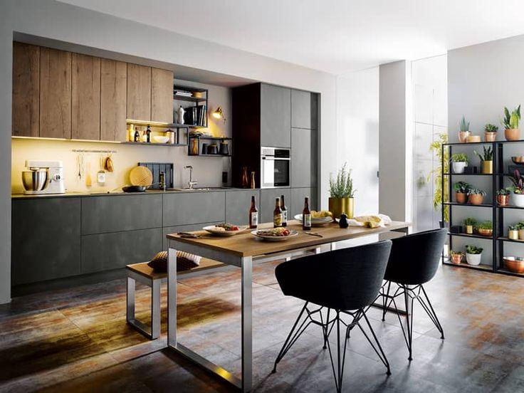 Die besten 25+ Industrie Stil Küchen Ideen auf Pinterest - offene kuche wohnzimmer abtrennen