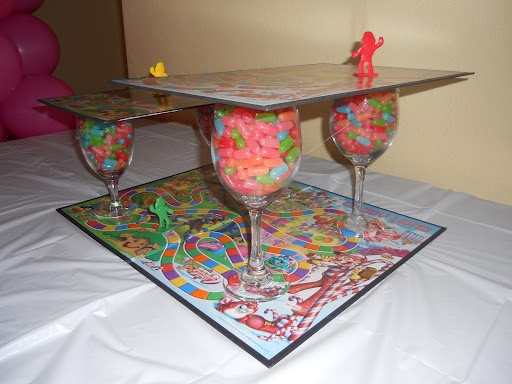 A Candyland stand, how clever!