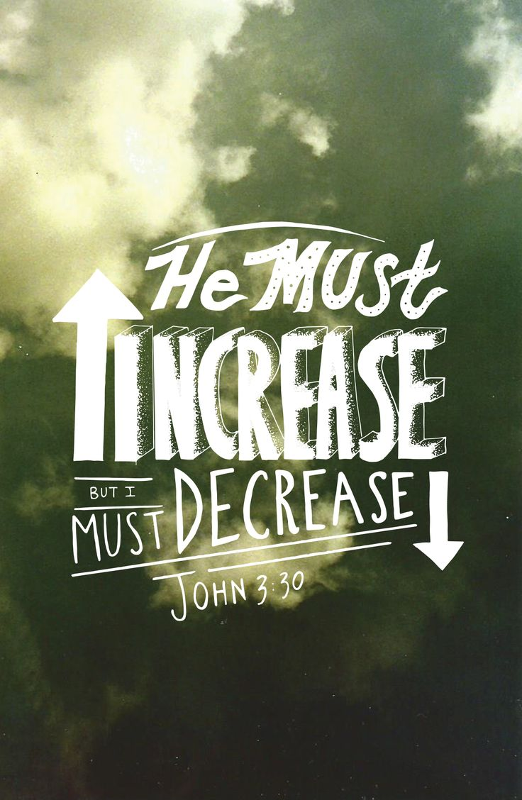 "I Must Have Coffee: ""He Must Increase, But I Must Decrease"" John 3:30"
