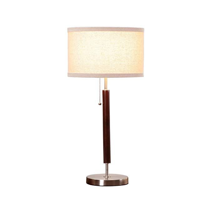 Brightech Carter Led Side Table Nightstand Desk Lamp Classy Vintage With Stainless Steel Bas Led Lighting Home Perfect Side Table Contemporary Table Lamps