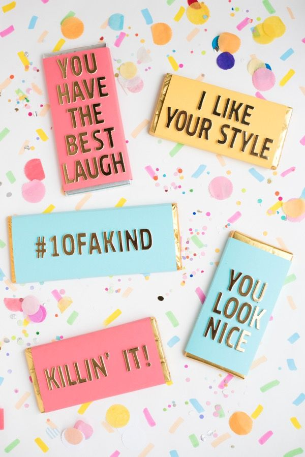 DIY Compliment Candy Bar Wrappers