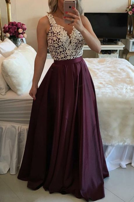 Prom Dress,Maroon Long Prom Dress, Sweetheart A-line Lace Prom Dress,Formal Dress,Evening Dress, Ball Gown, Party Dress, Custom Made Prom Dresses,Formal Dress