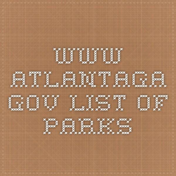 www.atlantaga.gov list of parks