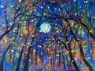 Sun Moon, The Artists, Night Lights, Starry Night, Trees, Full Moon, Blue Moon, John Lennon, Wall Photos