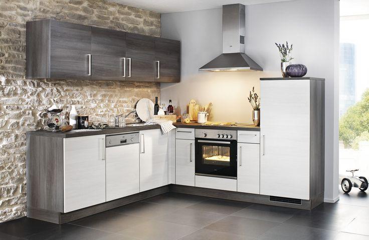 Manhattan u2022u2022 Winkelküche mit pflegeleichter Front in Eiche - komplett küchen mit elektrogeräten