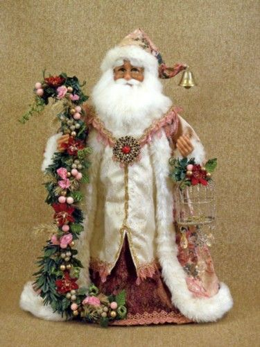pictures of victorian SANTA DECORATIONS   Karen Didion Victorian Santa Claus Collectible Doll Figurine ...