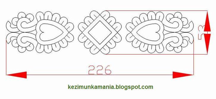 Kézimunkáim: könyvjelző minta (6), Hungarian embroidery