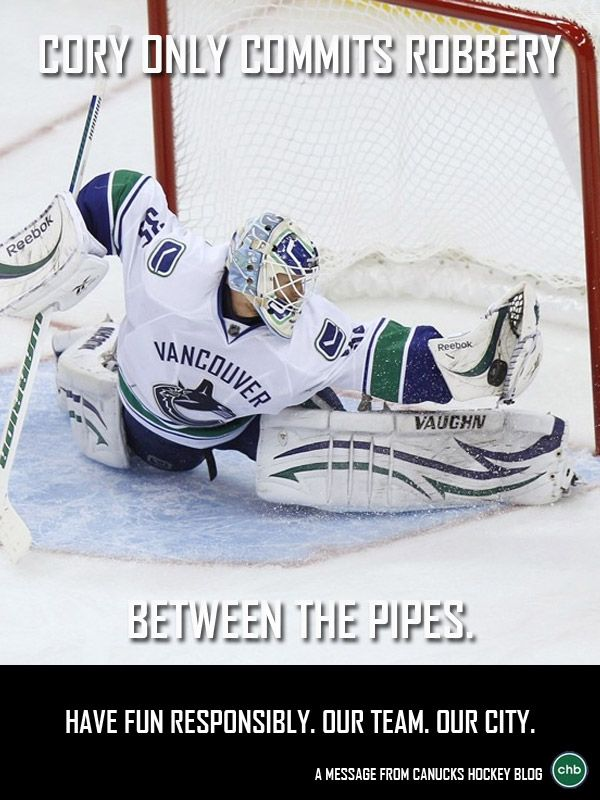 5th poster in #CHB's Celebrate Responsibly series - Cory Schneider - #Canucks #NHL