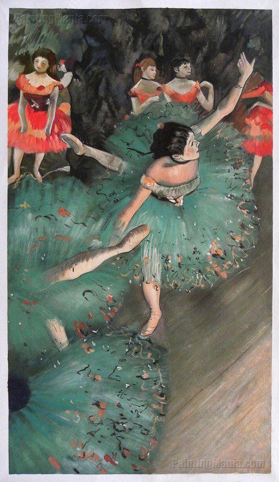The Green Dancer Edgar Degas Hand Painted Oil Painting Etsy Edgar Degas Ballerina Painting Degas