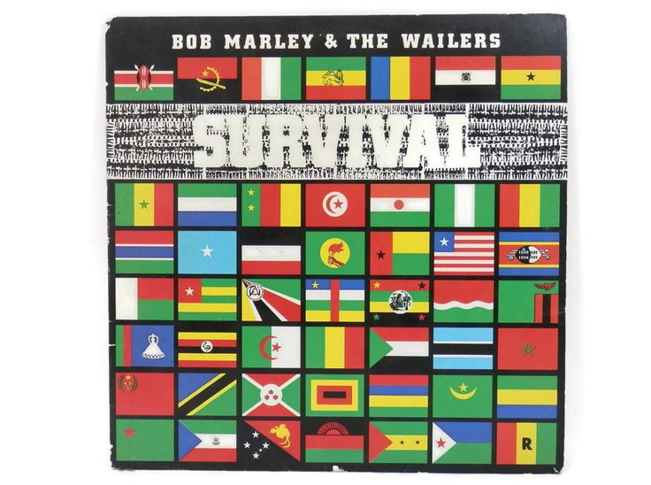 Bob Marley and the Wailers LP Survivor Island Records 90088-1 from the 1980's