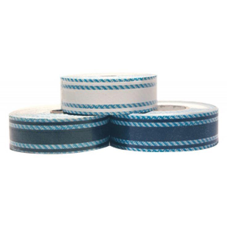 En Oferta con Descuento Cinta Adhesiva Linea de Flotacion Azul tres tiras 20mm x 20 mt para Embarcaciones, ahora con precio rebajado, HOLIDAY STRIPヤ tape made in PVC 1/10, with 3 stripes h. 20x20 m. - Blue, accesorios para barcos, accesorios nauticos, tie