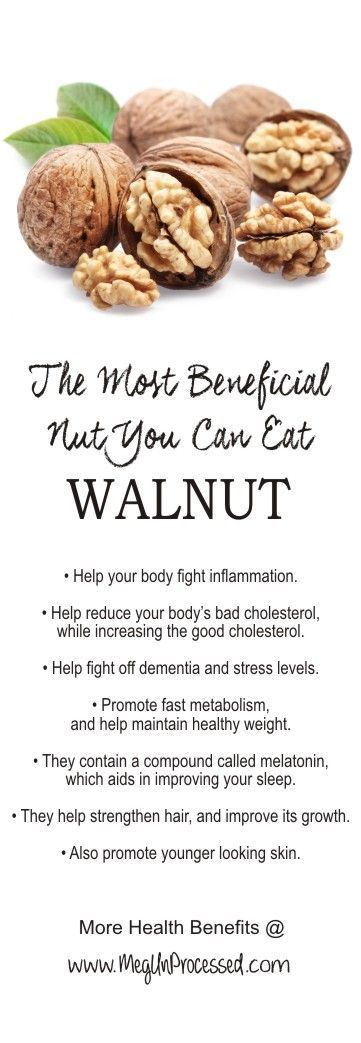 Health Benefits of Walnuts. They're shaped like a brain for a reason. Plus they help with inflammation!