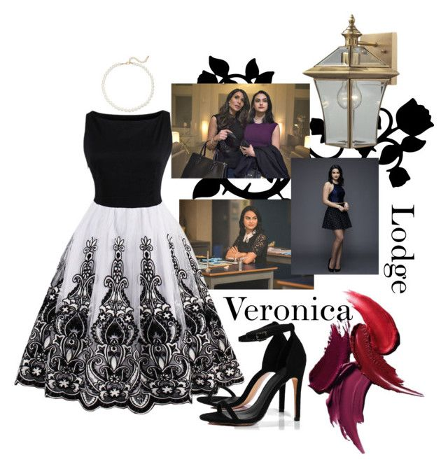 """""""Veronica Lodge"""" by emi-nichole ❤ liked on Polyvore featuring ELK Lighting, Saks Fifth Avenue and Boohoo"""