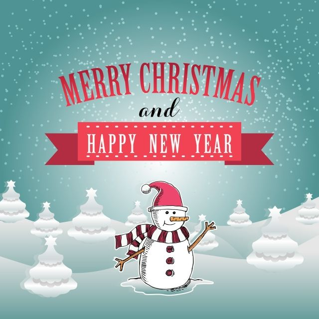 Merry Christmas And Happy New Year Greeting Card Design Christmas