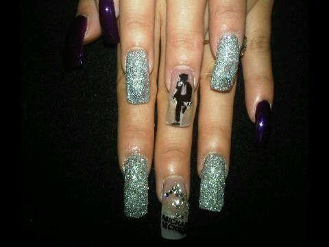 16 best mj nails images on pinterest beauty stuff celebrity immortal michael jackson nails nailart prinsesfo Gallery