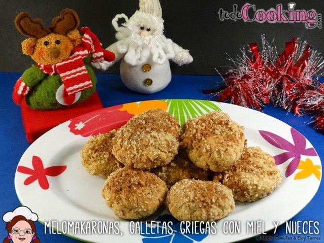 Melomakaronas, galletas griegas con miel y nueces