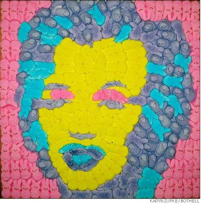 Marilyn Monroe made of Peeps from Peeps As Pop Culture: The Peep Show II Winners and More - if it's hip, it's here
