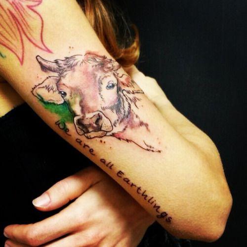 New Vegan Tattoo thanks to my sista @belloema 🐮❤️#vegan #veg #vegantattoo #tattoo #dolls& dogs #cow #love #cowlove #earthlings #weareallearthlings #crueltyfree #animalsarenotfood #govegan #thankstoyou #cute #maketheconnection #lovemysista