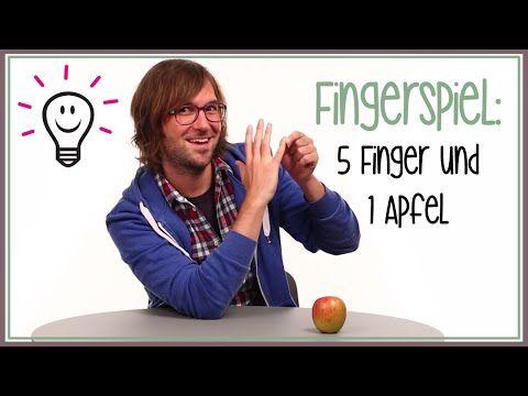 Fingerspiele: Fünf Finger und ein Apfel (Kinderreime) | mit herrh - YouTube