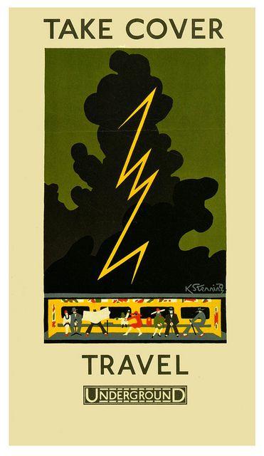 Take cover; travel Underground - Kathleen Stenning (1925)