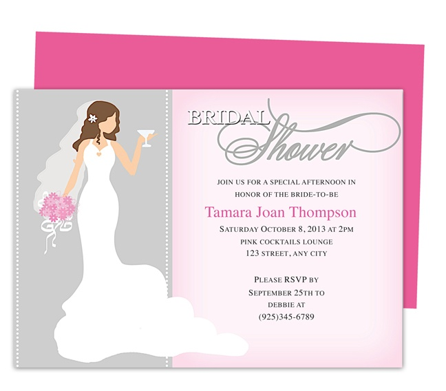 16 Best Images About Wedding Bridal Shower Invitation Templates On Pinterest