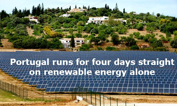 Portugal runs for four days straight on renewable energy alone   Zero emission milestone reached as country is powered by just wind, solar and hydro-generated electricity for 107 hours