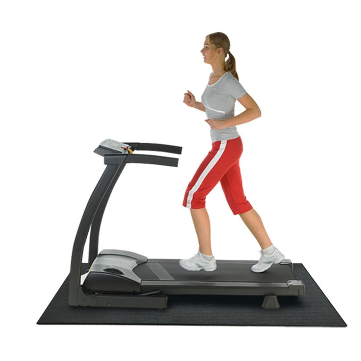 """Rubber-Cal Treadmill Mat - 3/16"""" thick x 4ft wide - 6.5 or 7.5ft length Mats for Treadmill Machines"""
