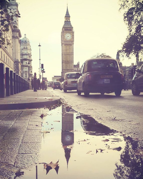 London Big Ben: London Calling, British, London Photography, I Love Rain, Travel, Places, Big Ben, London England, London Puddle