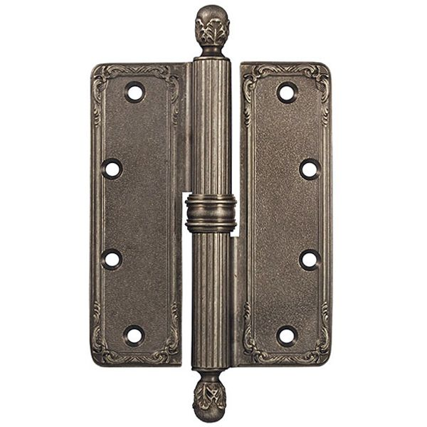 Baroque style hinge. Solid Brass. Made in Italy.