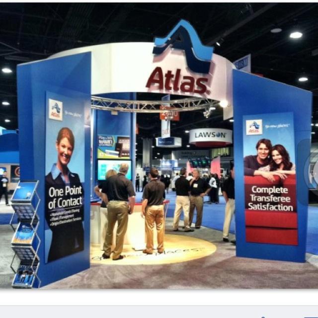 Atlas trade show presence.: Work, Presence, Advertising, Atlas Trade