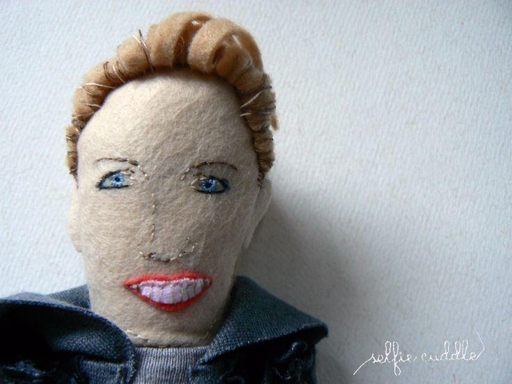 personalised handmade dolls, fabric dolls, woman, portrait, smile