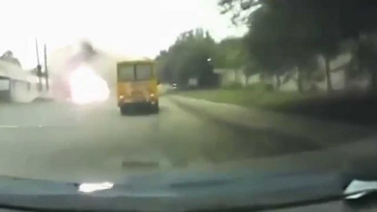Ukraine Airstrike Unclear Targets in Lugansk | Caught on Dash Cam