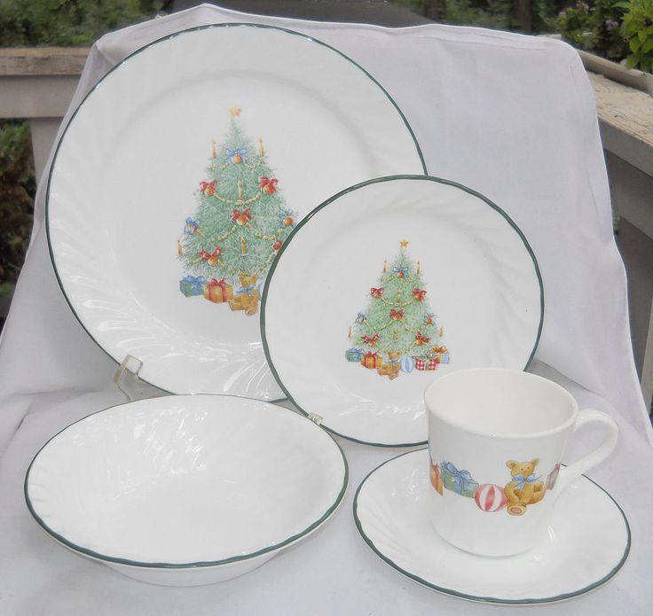 CORELLE HOLIDAY MAGIC DINNERWARE DINNER BREAD PLATE BOWL MUG 19 P TREE NEW BOX #Corelle. Christmas DinnerwareDinnerware ... & 19 best Christmas Dinnerware images on Pinterest   Christmas ...