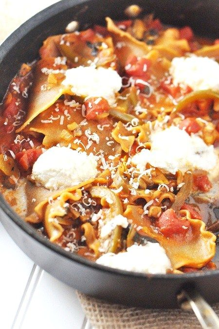 A Meatless and Fish-less dish for Friday during Lent? Give this fun Lasagna a try!