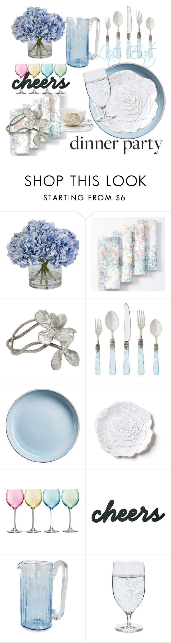 """Summer Dinner Party"" by brittlynd ❤ liked on Polyvore featuring interior, interiors, interior design, home, home decor, interior decorating, Ethan Allen, Food Network, Table Art and Rosanna"