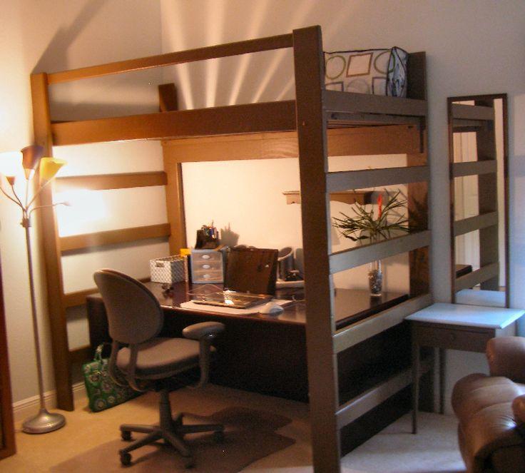 Queen Size Loft Bed Ikea Bunk Bed With Desk Loft Bed