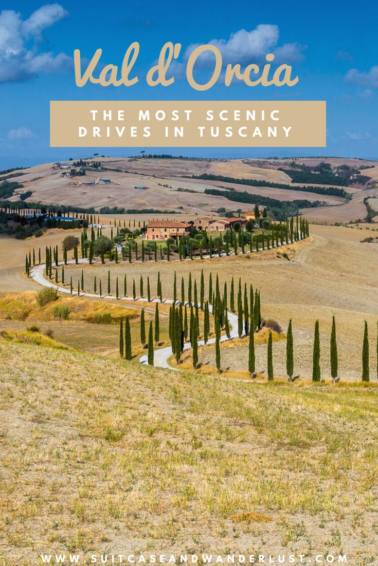 Discover the most scenic drives in Val d'Orcia in Tuscany
