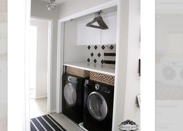 wasmachine en droger weggewerkt aanbouw pinterest. Black Bedroom Furniture Sets. Home Design Ideas