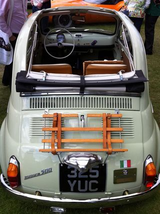 Vintage Fiat 500 would love this as a wedding car