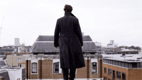 How Sherlock really got off that roof. | 16 of the funniest Sherlock fandom moments in gifs  | Metro News