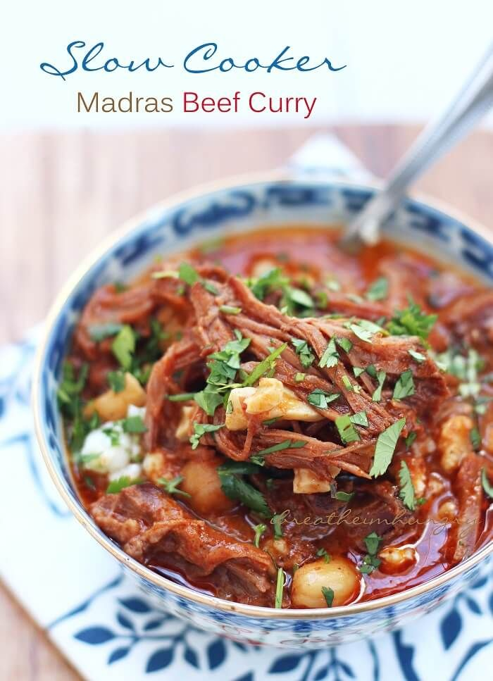 Slow Cooker Madras Beef Curry Keto Low Carb I Breathe I M Hungry Recipe Slow Cooker Beef Curry Slow Cooker Recipes Beef Slow Cooker Curry