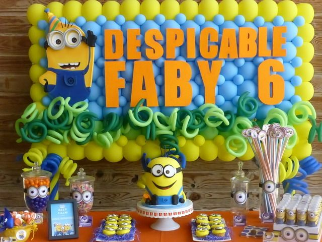 Amazing Minions Birthday Party!  See more party ideas at CatchMyParty.com!  #partyideas #minion