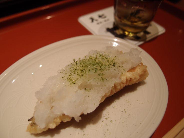 Conger eel with Grated radish and Lemon @Tenshichi, 2014/4