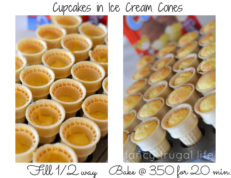Tips for Baking Cupcakes in Cones. Then the kids could decorate the little cakes after!