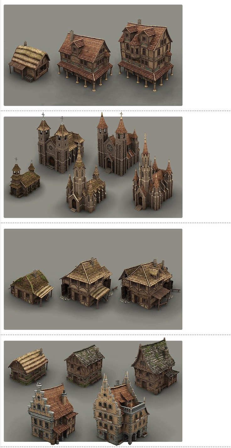 Guild Buildings by BITGEM