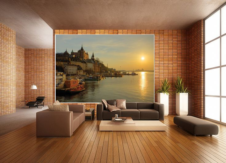 custom wall mural decorate living room with beautiful pictures