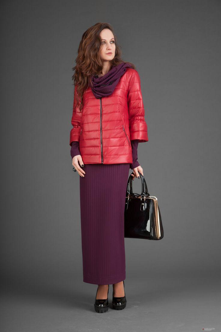 Юбочный костюм /комплект Elpaiz 132 (платье+куртка+шарф)