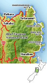 The Abel Tasman Coast Track is located in the South Island Abel Tasman National Park on the north shores and is one of the nine New Zealand Great Walks.  South Island Between 3 and 5 Days 54 km Huts and camping must be booked in advance.