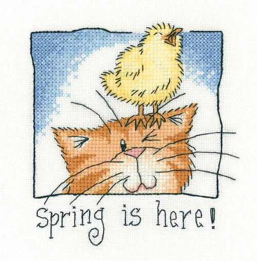 Spring is Here - Cat's Rule Cross Stitch